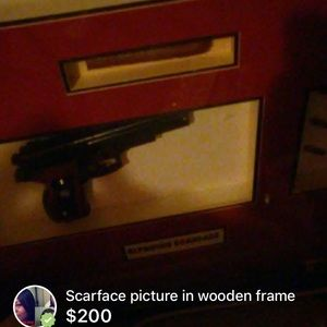 Scarface Other Classic Heavy Wooden Frame Portrait Poshmark